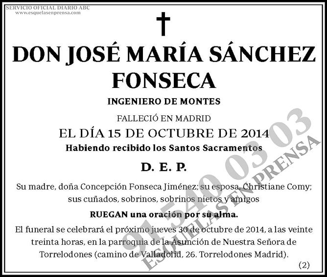 José María Sánchez Fonseca